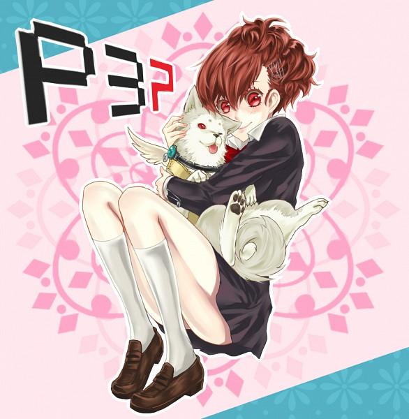 Tags: Anime, Pixiv Id 1263680, Persona 3 Portable, Shin Megami Tensei: PERSONA 3, Female Protagonist (PERSONA 3), Koromaru, Pixiv