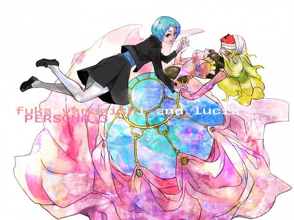 Tags: Anime, Oyuyamio, Shin Megami Tensei: PERSONA 3, Yamagishi Fuuka, Lucia (PERSONA), Wallpaper, Pixiv