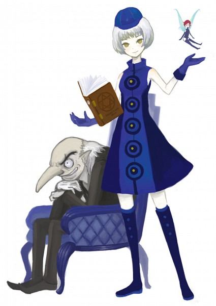 Tags: Anime, Shin Megami Tensei: PERSONA 3, Elizabeth (PERSONA 3), Pixie (Shin Megami Tensei), Igor (Persona), Velvet Room, Artist Request