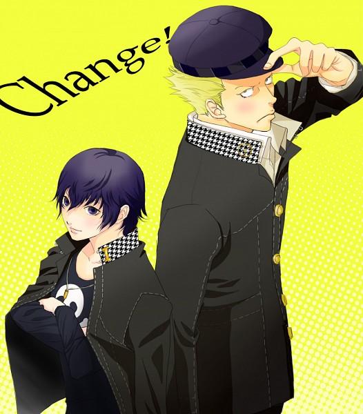Tags: Anime, Shin Megami Tensei: PERSONA 4, Shirogane Naoto, Tatsumi Kanji, Pixiv, Fanart
