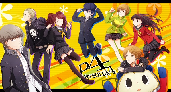 Tags: Anime, Arya032, Shin Megami Tensei: PERSONA 4, Kuma, Satonaka Chie, Narukami Yu, Amagi Yukiko, Kujikawa Rise, Hanamura Yousuke, Shirogane Naoto, Houndstooth Pattern, Cabbie Hat, Pixiv