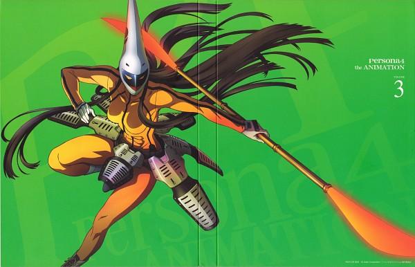 Tags: Anime, Soejima Shigenori, Shin Megami Tensei: PERSONA 4, Tomoe Gozen, Official Art, Scan, DVD (Source)