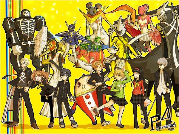 Tags: Anime, Sakurai (Pixiv1364648), Shin Megami Tensei: PERSONA 4, Narukami Yu, Konohana Sakuya, Amagi Yukiko, Kuma, Himiko (Persona), Kujikawa Rise, Tatsumi Kanji, Take-mikazuchi, Shirogane Naoto, Kintokidouji