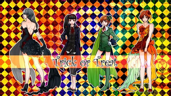 Tags: Anime, Puppetxxx, Shin Megami Tensei: PERSONA 4, Satonaka Chie, Hanamura Yousuke, Amagi Yukiko, Narukami Yu, Fanart, Fanart From Pixiv, Pixiv, Wallpaper, HD Wallpaper