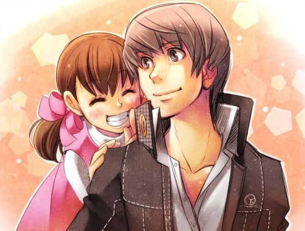 Tags: Anime, Choumoku (Toriko B C), Shin Megami Tensei: PERSONA 4, Narukami Yu, Doujima Nanako, Cousins, Fanart From Pixiv, Fanart, Pixiv