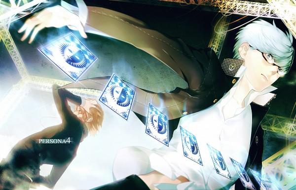 Tags: Anime, Pixiv Id 1480815, Shin Megami Tensei: PERSONA 4, Hanamura Yousuke, Narukami Yu, Pixiv