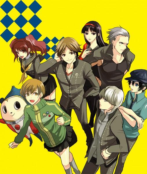Tags: Anime, Shin Megami Tensei: PERSONA 4, Kuma, Tatsumi Kanji, Satonaka Chie, Narukami Yu, Amagi Yukiko, Kujikawa Rise, Hanamura Yousuke, Shirogane Naoto, Artist Request