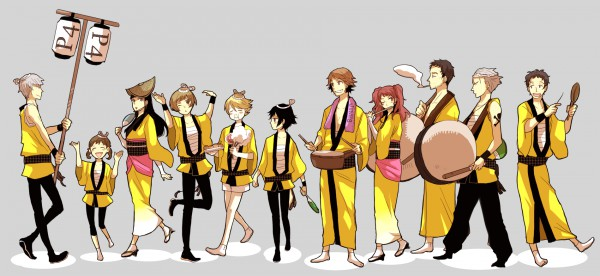 Tags: Anime, Sudachips, Shin Megami Tensei: PERSONA 4, Doujima Ryoutarou, Tatsumi Kanji, Adachi Tohru, Satonaka Chie, Doujima Nanako, Narukami Yu, Amagi Yukiko, Hanamura Yousuke, Kujikawa Rise, Kuma