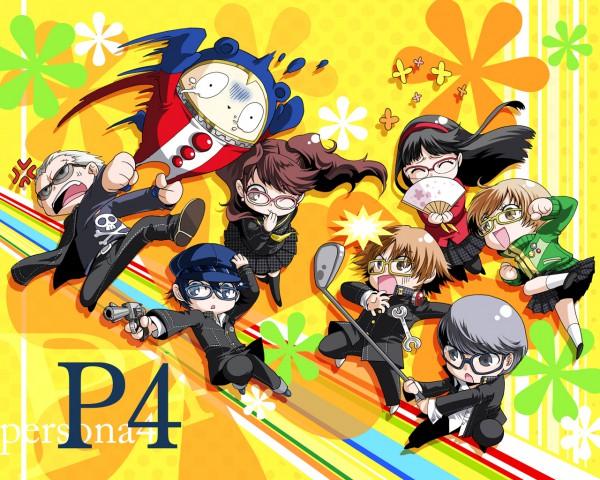Tags: Anime, You Satsuki, Shin Megami Tensei: PERSONA 4, Amagi Yukiko, Kujikawa Rise, Hanamura Yousuke, Shirogane Naoto, Kuma, Tatsumi Kanji, Satonaka Chie, Narukami Yu, Wallpaper