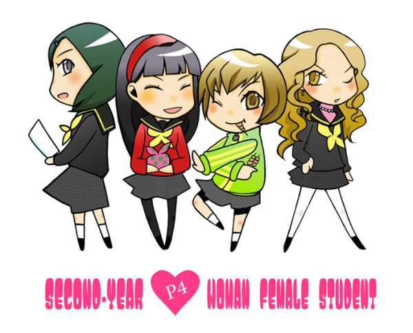 Tags: Anime, Shin Megami Tensei: PERSONA 4, Satonaka Chie, Amagi Yukiko, Ozawa Yumi, Ebihara Ai