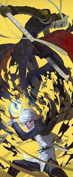 Tags: Anime, Nanaya (Daaijianglin), Shin Megami Tensei: PERSONA 4, Magatsu Izanagi, Izanagi, Narukami Yu, Depth Of Field
