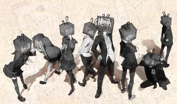 Tags: Anime, Tadashi Hitoshi, Shin Megami Tensei: PERSONA 4, Satonaka Chie, Narukami Yu, Amagi Yukiko, Hanamura Yousuke, Kujikawa Rise, Kuma, Shirogane Naoto, Tatsumi Kanji, Pixiv, Fanart