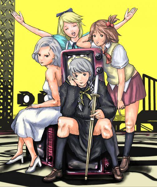 Tags: Anime, Pixiv Id 152487, Shin Megami Tensei: PERSONA 4, Hanamura Yousuke, Kuma, Tatsumi Kanji, Narukami Yu, Alice (Alice in Wonderland) (Cosplay), Marilyn Monroe (Cosplay)