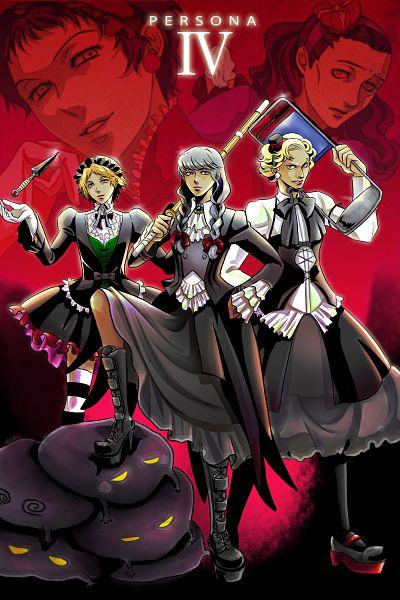 Tags: Anime, Yoshii Kyoko, Shin Megami Tensei: PERSONA 4, Adachi Tohru, Hanamura Yousuke, Tatsumi Kanji, Narukami Yu, Doujima Ryoutarou, Stubble