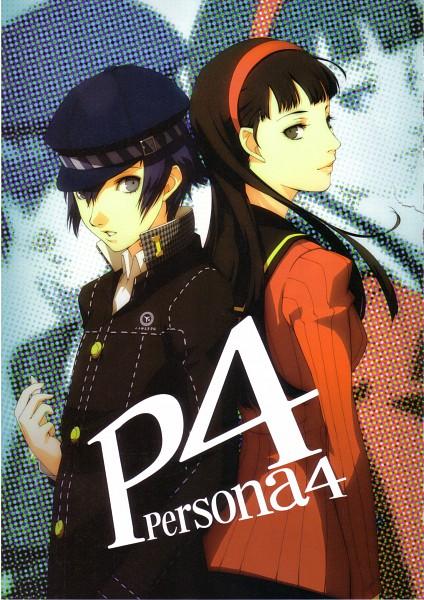 Tags: Anime, Soejima Shigenori, Atlus, P4 Official Design Works, Shin Megami Tensei: PERSONA 4, Shirogane Naoto, Amagi Yukiko, Official Art