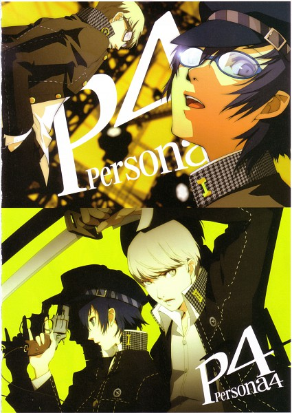 Tags: Anime, Soejima Shigenori, Atlus, P4 Official Design Works, Shin Megami Tensei: PERSONA 4, Shirogane Naoto, Narukami Yu, Cabbie Hat, Houndstooth Pattern, Mobile Wallpaper, Official Art