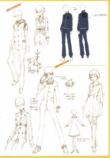 Tags: Anime, Soejima Shigenori, Atlus, P4 Official Design Works, Shin Megami Tensei: PERSONA 4, Official Art, Sketch, Mobile Wallpaper, Character Sheet