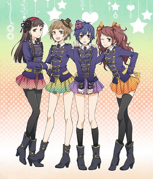 Tags: Anime, Ui322, Shin Megami Tensei: PERSONA 4, Amagi Yukiko, Kujikawa Rise, Shirogane Naoto, Satonaka Chie, Fanart, Fanart From Pixiv, Pixiv