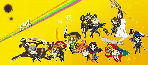 Tags: Anime, Fujino Miyabi, Shin Megami Tensei: PERSONA 4, Tomoe Gozen, Satonaka Chie, Hanamura Yousuke, Narukami Yu, Konohana Sakuya, Amagi Yukiko, Kuma, Himiko (Persona), Kujikawa Rise, Tatsumi Kanji