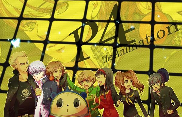 Tags: Anime, Shin Megami Tensei: PERSONA 4, Amagi Yukiko, Kujikawa Rise, Hanamura Yousuke, Shirogane Naoto, Kuma, Tatsumi Kanji, Satonaka Chie, Narukami Yu, Fanart