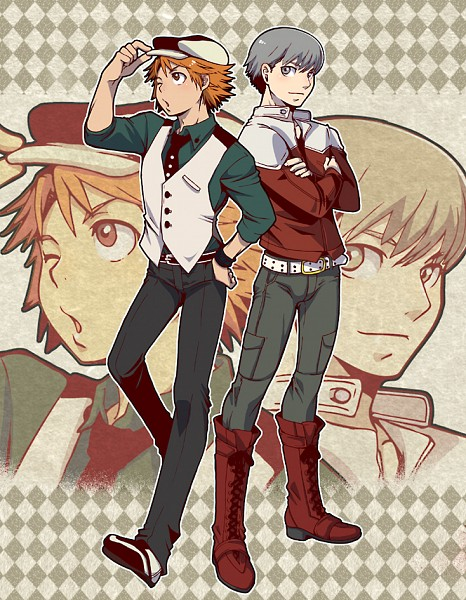 Tags: Anime, TIGER & BUNNY, Shin Megami Tensei: PERSONA 4, Hanamura Yousuke, Narukami Yu, Tiger & Bunny (Parody), Kaburagi T. Kotetsu (Cosplay), Barnaby Brooks Jr. (Cosplay)
