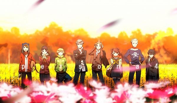 Tags: Anime, Koredemoka, Shin Megami Tensei: PERSONA 4, Satonaka Chie, Narukami Yu, Amagi Yukiko, Hanamura Yousuke, Kujikawa Rise, Kuma, Shirogane Naoto, Tatsumi Kanji, Pixiv, Wallpaper