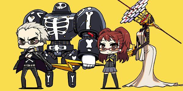 Tags: Anime, CHAN×CO, Shin Megami Tensei: PERSONA 4, Himiko (Persona), Kujikawa Rise, Take-mikazuchi, Tatsumi Kanji, Pixiv
