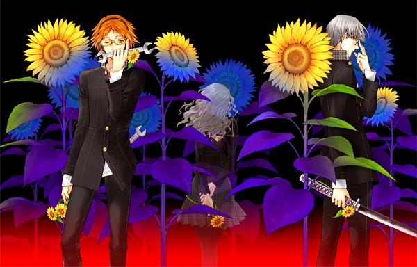 Tags: Anime, Pixiv Id 395630, Shin Megami Tensei: PERSONA 4, Narukami Yu, Konishi Saki, Ebihara Ai, Hanamura Yousuke, Fanart, Pixiv