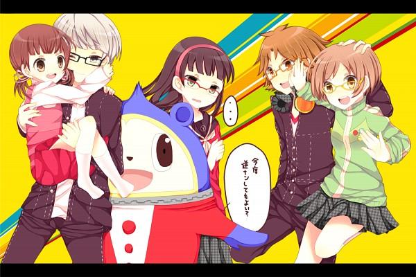Tags: Anime, Pixiv Id 2071262, Shin Megami Tensei: PERSONA 4, Hanamura Yousuke, Satonaka Chie, Kuma, Amagi Yukiko, Narukami Yu, Doujima Nanako, Boa Abierta, Pixiv, Fanart