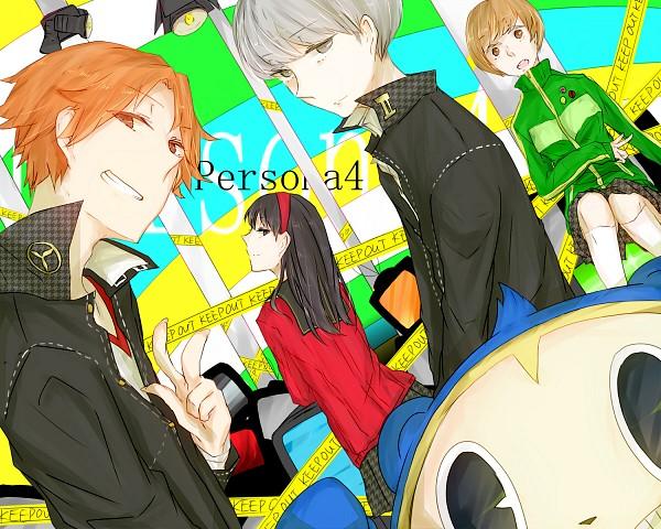 Tags: Anime, Pixiv Id 3093105, Shin Megami Tensei: PERSONA 4, Amagi Yukiko, Narukami Yu, Hanamura Yousuke, Satonaka Chie, Kuma, Pixiv, Fanart