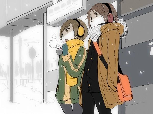 Tags: Anime, Shin Megami Tensei: PERSONA 4, Hanamura Yousuke, Satonaka Chie, Fanart, Pixiv, Wallpaper