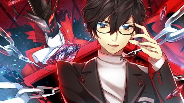 Tags: Anime, xYum-Yumx, Shin Megami Tensei: PERSONA 5, Arsène (Persona 5), Amamiya Ren (Persona 5), Pixiv, Fanart, Fanart From Pixiv