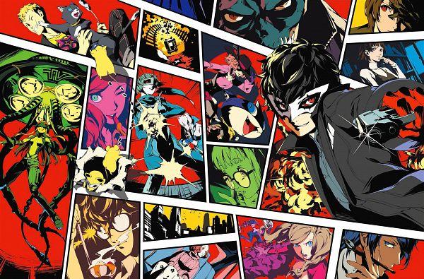 Tags: Anime, Soejima Shigenori, Atlus, Shin Megami Tensei: PERSONA 5, Carmen (Persona 5), Queen (Persona 5), Amamiya Ren (Persona 5), Necronomicon (Persona 5), Kitagawa Yuusuke, Panther (Persona 5), Okumura Haru, Fox (Persona 5), Sakamoto Ryuuji