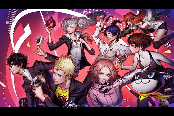 Tags: Anime, Zolaida, Shin Megami Tensei: PERSONA 5, Amamiya Ren (Persona 5), Kitagawa Yuusuke, Sakamoto Ryuuji, Okumura Haru, Morgana (Persona 5), Niijima Makoto, Takamaki Anne, Sakura Futaba (Persona 5), Fanart, Fanart From DeviantART