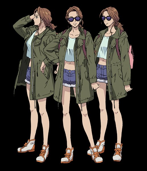 Tags: Anime, Takahashi Kumiko, Sunrise (Studio), City Hunter, City Hunter: Shinjuku Private Eyes, Shindou Ai (City Hunter), Official Art, Character Sheet
