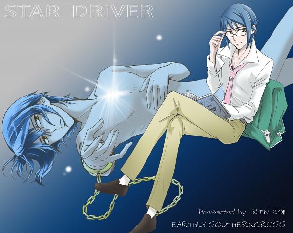 Tags: Anime, Hashiba Rin, Star Driver, Shindou Sugata, Pixiv, Fanart