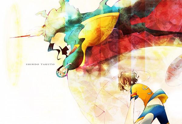 Tags: Anime, Tono (DENTEN.), Inazuma Eleven, Inazuma Eleven GO, Sousha Maestro, Shindou Takuto, Conducting, Baton (Instrument), Fanart, Fanart From Pixiv, Pixiv, Keshin