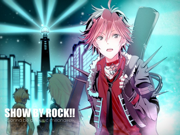 Tags: Anime, Pixiv Id 2900617, Show by Rock!!, Crow (Show by Rock!!), Rom (Show by Rock!!), Yaiba (Show by Rock!!), Aion (Show by Rock!!), Instrument Case, Wallpaper, Pixiv, Shingan Crimsonz
