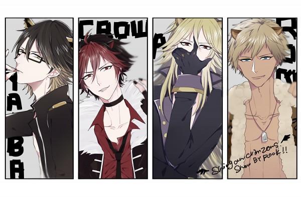 Tags: Anime, Pixiv Id 11744087, Show by Rock!!, Yaiba (Show by Rock!!), Aion (Show by Rock!!), Crow (Show by Rock!!), Rom (Show by Rock!!), Text: Character Group Name, Shishimimi, Shingan Crimsonz