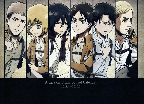 Shingeki no Kyojin School Calendar - Attack on Titan
