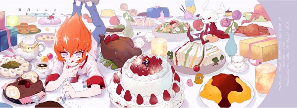 Tags: Anime, Pixiv Id 1672412, Yu-Gi-Oh! ZEXAL, Yu-Gi-Oh! GX, Yu-Gi-Oh!, Shingetsu Rei, Winged Kuriboh, Kurivolt, Fanart, Pixiv, Fanart From Pixiv, PNG Conversion