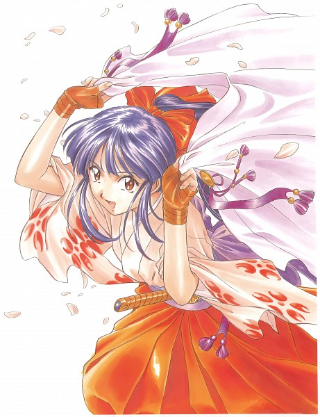 Tags: Anime, Fujishima Kousuke, SEGA, Sakura Taisen, Shinguuji Sakura, Scan, Manga Color, Official Art
