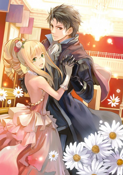 Tags: Anime, Kishida Mel, Shinigami Hime no Saikon, Alicia Licen, Kashburn Licen, Mobile Wallpaper, The Princess Of Death's Second Marriage