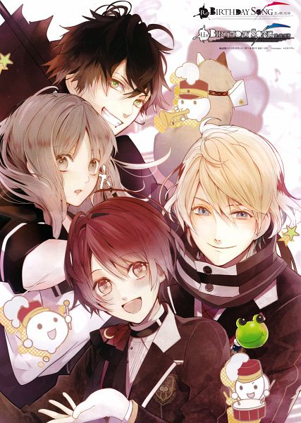 Tags: Anime, Satoi, honeybee, Shinigami Kareshi Series, Cocoro (Shinigami Kareshi), Zen (Shinigami Kareshi), Kairi (Shinigami Kareshi), Kanno Hotori, Scan, Official Art, B's LOG, Mobile Wallpaper, Magazine (Source)