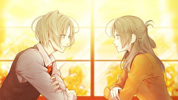 Tags: Anime, Satoi, honeybee, Shinigami Kareshi Series, Kanno Hotori, Rikka (Shinigami Kareshi), Official Art, CG Art