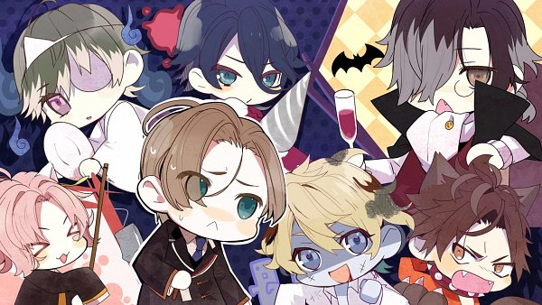 Tags: Anime, Satoi, honeybee, Shinigami Kareshi Series, Nami (Shinigami Kareshi), Syun (Shinigami Kareshi), Ame (Sninigami Kareshi), Hiiro (Shinigami Kareshi), Yoru (Shinigami Kareshi), Yuyu (Shinigami Kareshi), Kairi (Shinigami Kareshi), CG Art