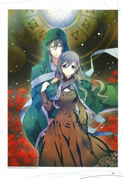 Tags: Anime, Sumihey, TAKUYO, Shinigami to Shoujo Official Picture Book, Shinigami to Shoujo, Toono Sayo, Toono Touya, Official Art, Scan, The Death Reaper And The Girl