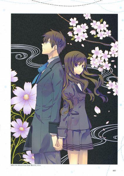 Tags: Anime, Sumihey, TAKUYO, Shinigami to Shoujo Official Picture Book, Shinigami to Shoujo, Toono Sayo, Kirishima Nanaki, Official Art, Scan, The Death Reaper And The Girl