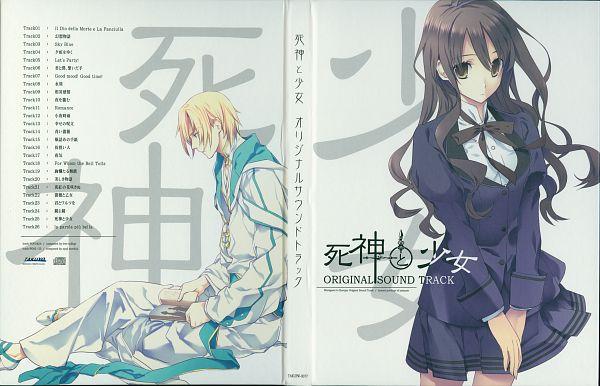 Tags: Anime, Sumihey, TAKUYO, Shinigami to Shoujo, Toono Sayo, Ao (Shinigami to Shoujo), Official Art, Scan, CD (Source), The Death Reaper And The Girl