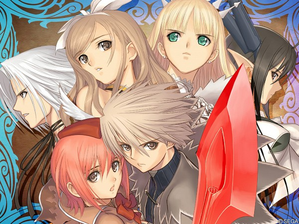 Tags: Anime, Tony Taka, Sega, Shining Tears, Touka Kureha, Akizuki Souma, Kanon Seena, Kiriya Kaito, Clalaclan Phirias, Xecty Ein, Wallpaper, Official Art, Official Wallpaper